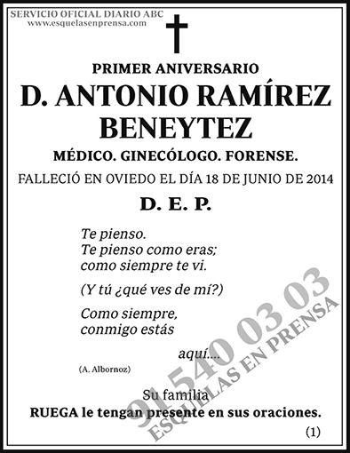 Antonio Ramírez Beneytez